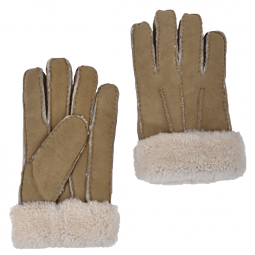 Mens Suede Sheepskin Gloves Taupe : DB-905