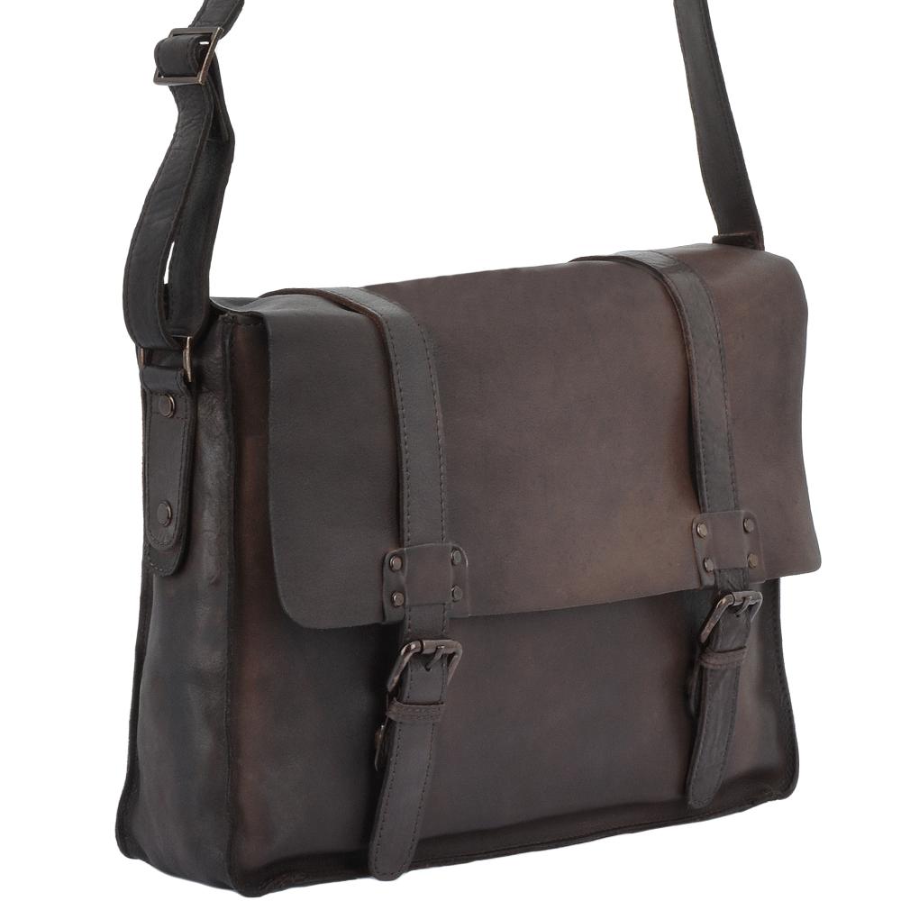 Mens Vintage Leather Messenger Bag Brown   7996  3a91bdd6b5ab6