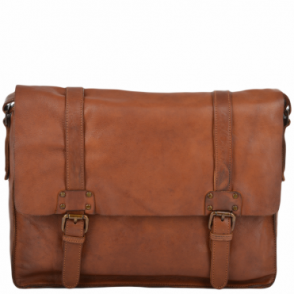 684a557a852f Mens Five Pocket Carry All Leather Messenger Bag Tan col   Pedro