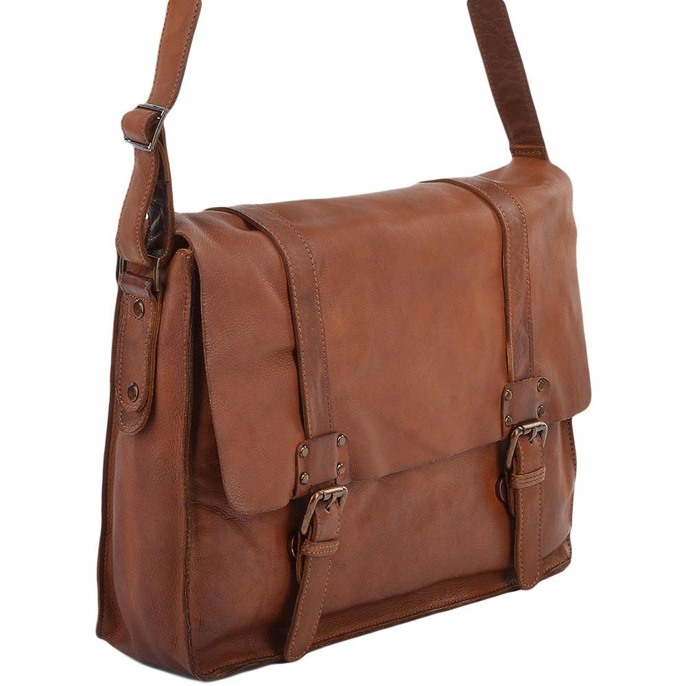 mens vintage leather messenger bag rust 7996 mens