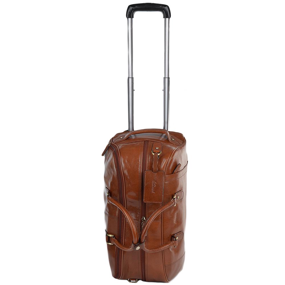 30adb19df Mens Weekend Leather Travel Holdall Cognac/vt : Albert   Leather Luggage