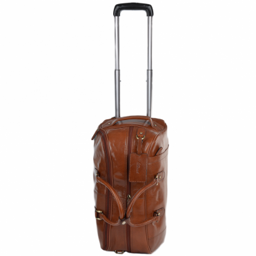 Mens Weekend Leather Travel Holdall Chestnut/vt : Albert