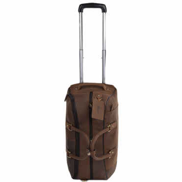 Mens Weekend Leather Travel Holdall Mud/vt : Albert