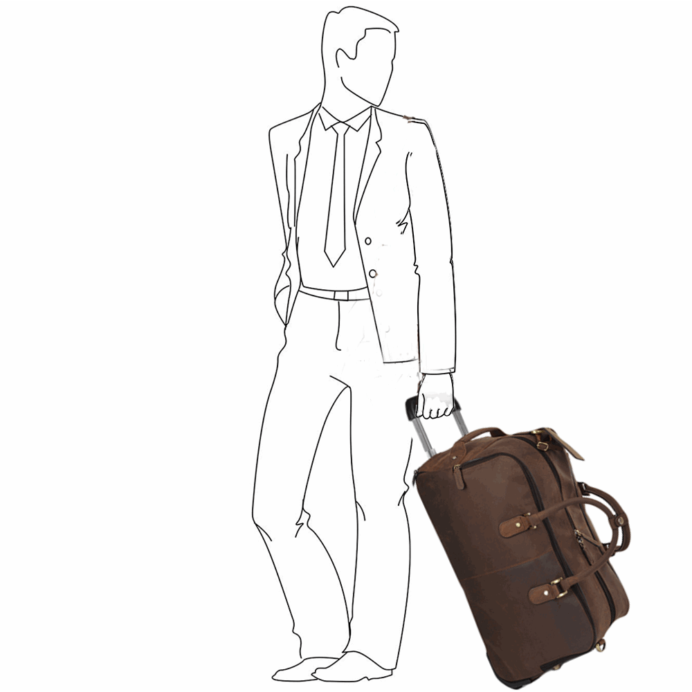 772c1cfa6 Mens Weekend Leather Travel Holdall Mud/vt : Albert   Leather Luggage