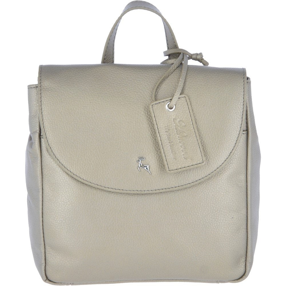 164400628 Mini Leather Backpack Avi Pewter : 61915 - Ladies from Leather Company UK