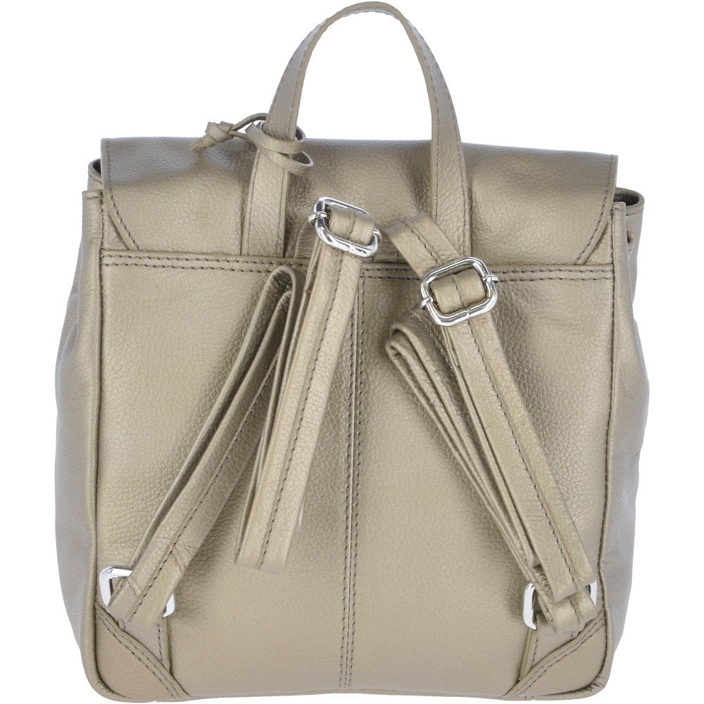 96cd2ae88 Mini Leather Backpack Avi Pewter : 61915 - Ladies from Leather ...