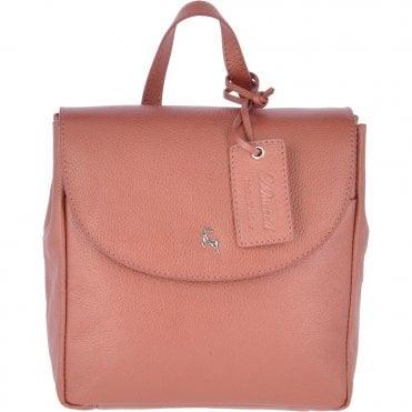 4eb78cc67 Mini Leather Backpack Dark Peach: 61915