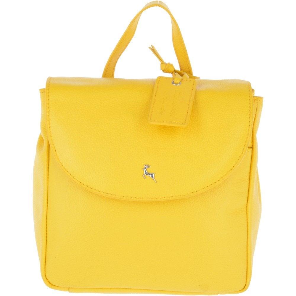 f88c1c763dba Mini Yellow Leather Backpack- Fenix Toulouse Handball