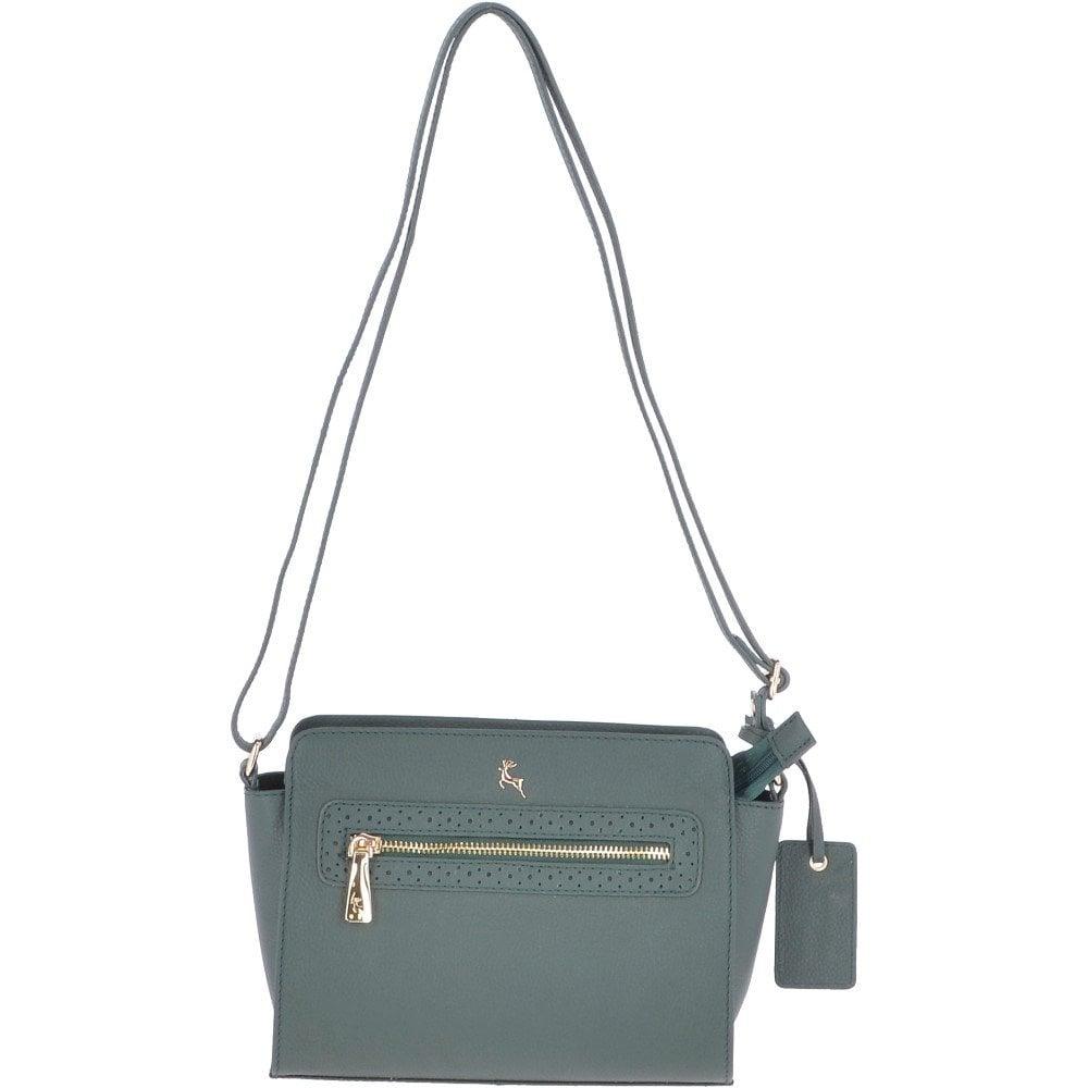 7ffde11cf Mini Leather Cross Body Bag Bottle Green - Roxy 61805 - Handbags from Leather  Company UK