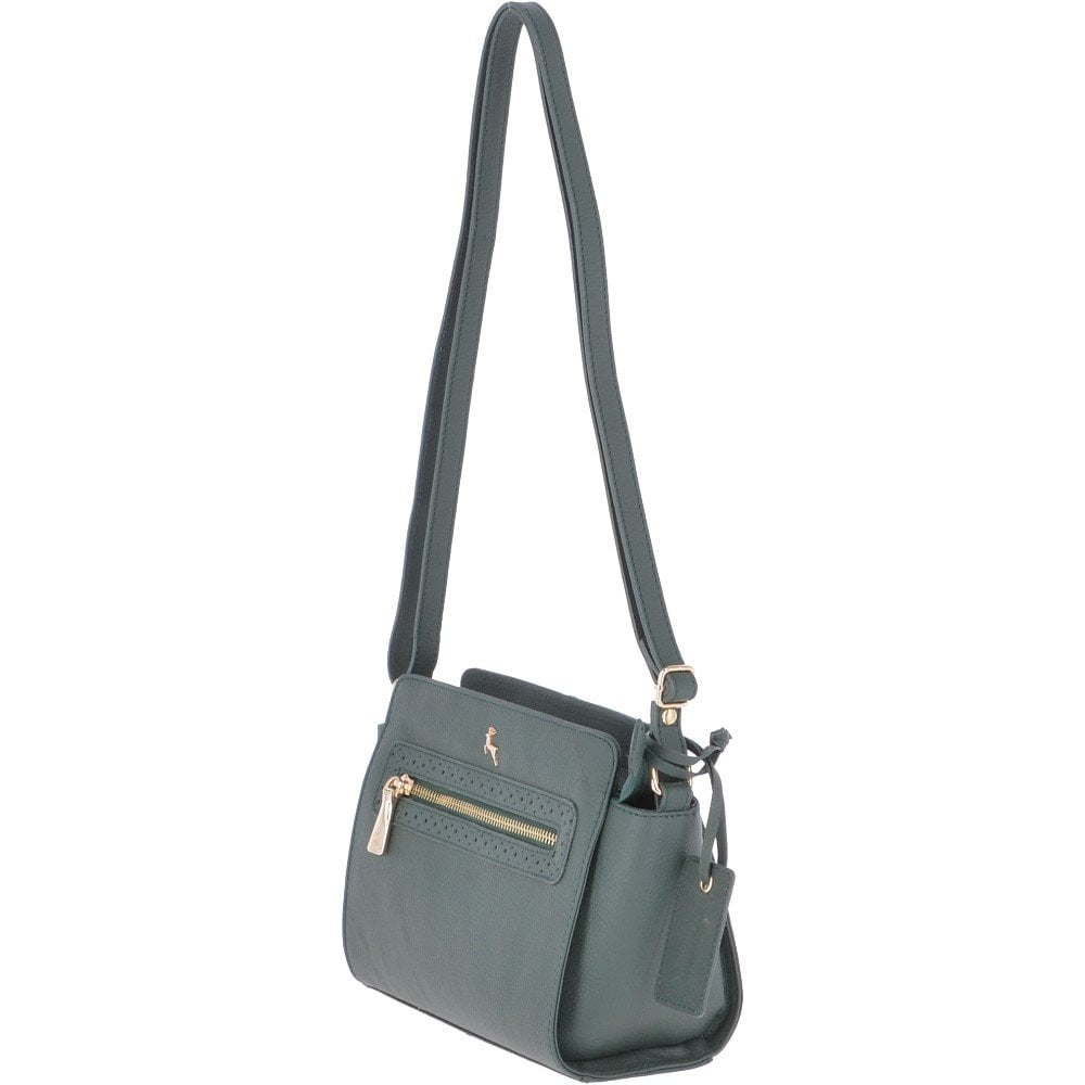 d5daaaa3e Mini Leather Cross Body Bag Bottle Green - Roxy 61805 - Handbags ...