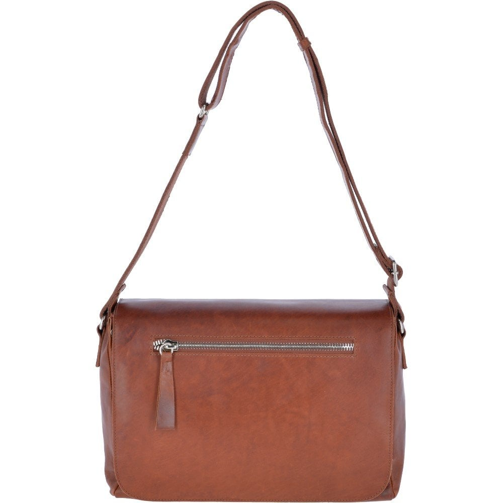 251972e4b Oily Hunter Leather Messenger Bag Tan : 1664 - Mens from Leather Company UK