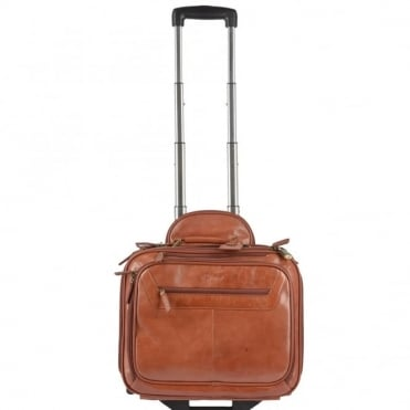 Quad Section Business Weekend Trolley Cognac/ari : 89151