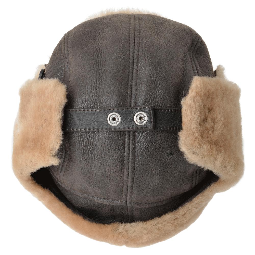 f0578c9fbe Sheepskin Aviator Flying Hat Brown  Morgan