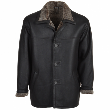 Sheepskin Coat Black/brissa : Jefferson