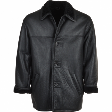 Sheepskin Coat Black : Jefferson