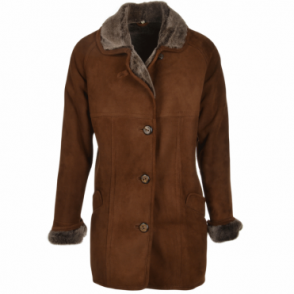 Sheepskin Coat Brown : Florence