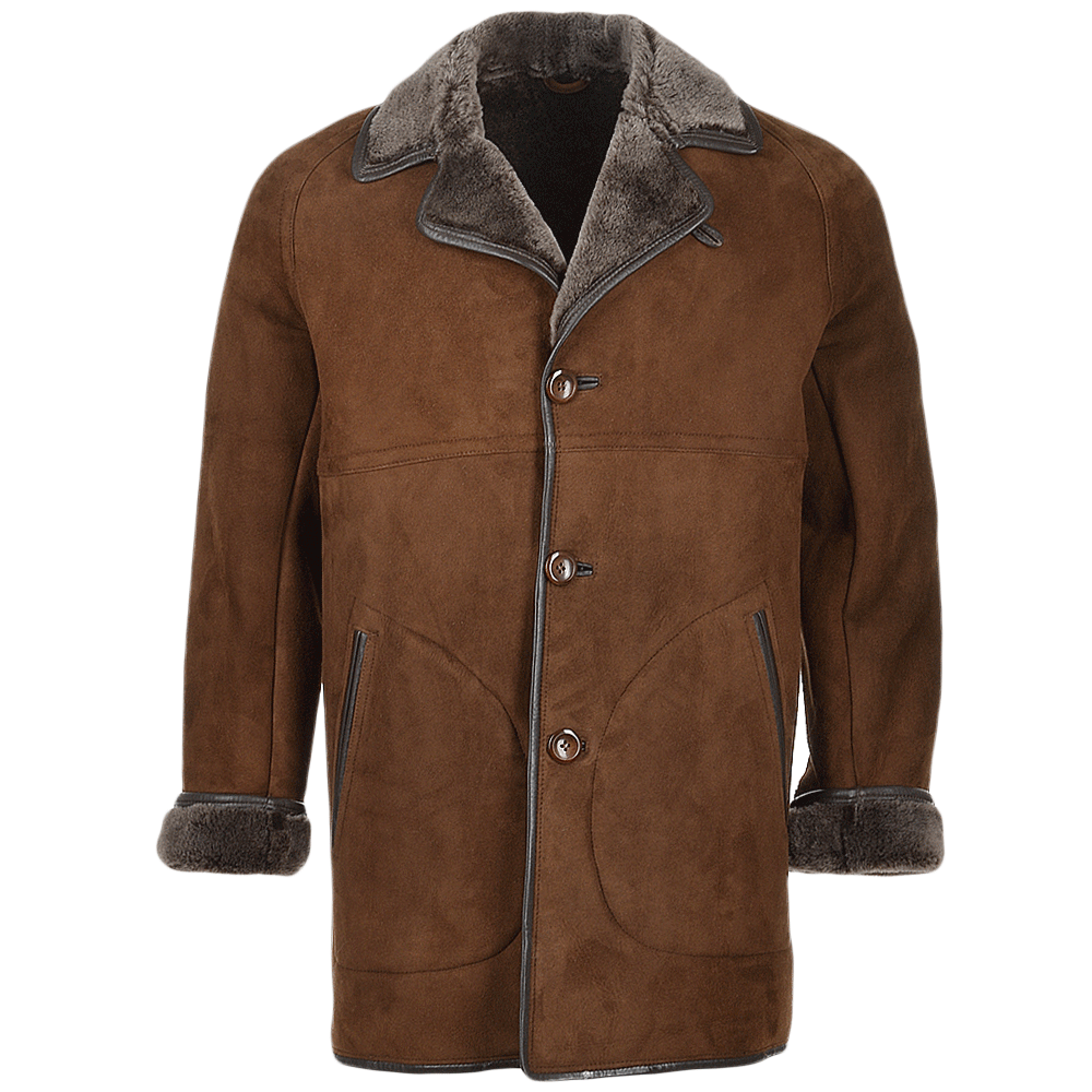 Mens Sheepskin Coat Brown : Hektor | Men's Sheepskin Jackets