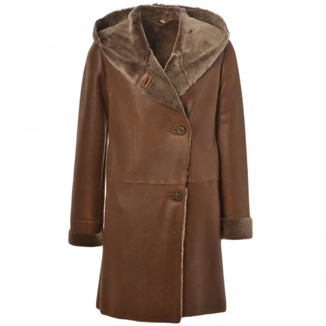 Ashwood Sheepskin Coat Brown : Helen