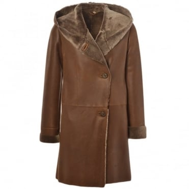 Sheepskin Coat Brown : Helen
