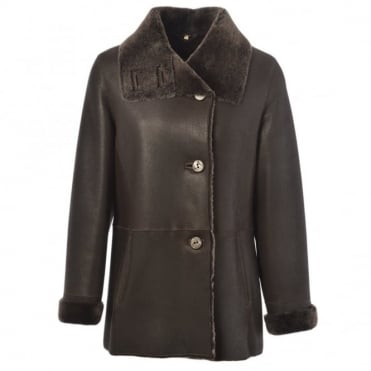 Sheepskin Coat Dark-Brown : Anthea