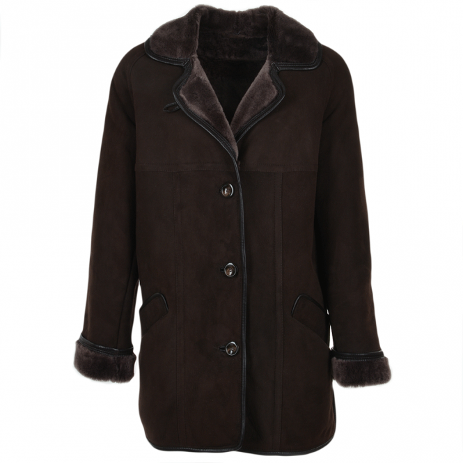 Ashwood Sheepskin Coat Dark-brown : Florence