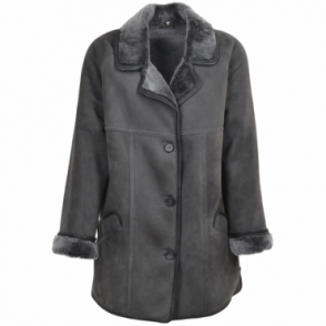 Sheepskin Coat Graphite : Florence