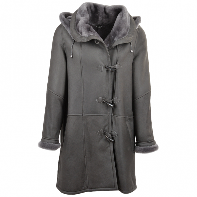 Ashwood Sheepskin Coat Gray : Olivia