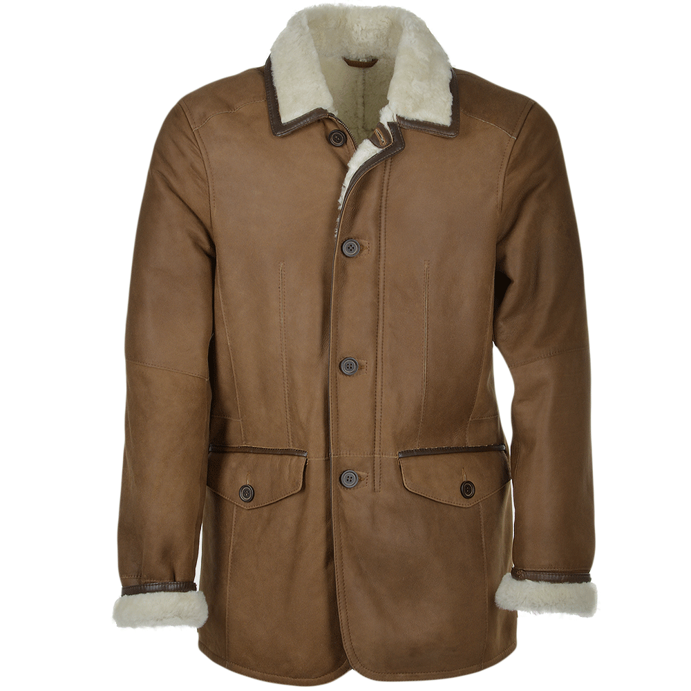 Mens Sheepskin Coat Tan Adonis Men S Sheepskin Jackets