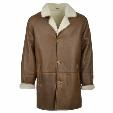 Sheepskin Coat Tan : Don