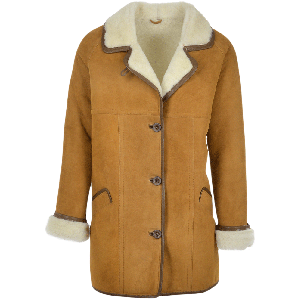 Womens Sheepskin Coat Tan : Florence | Women's Sheepskin Jackets