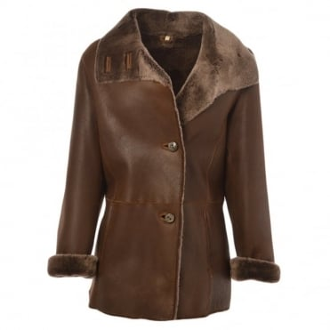 Sheepskin Coat Tobacco : Anthea