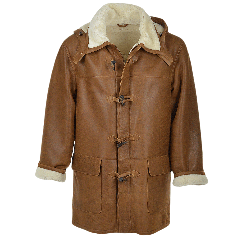 Mens Sheepskin Duffle Tan Magnus Men S Sheepskin Jackets