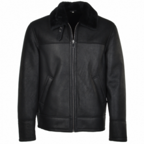 Sheepskin Flying Jacket Black : Hunter