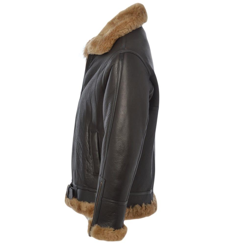e242993736 Mens Sheepskin Flying Jacket Ginger   Leo