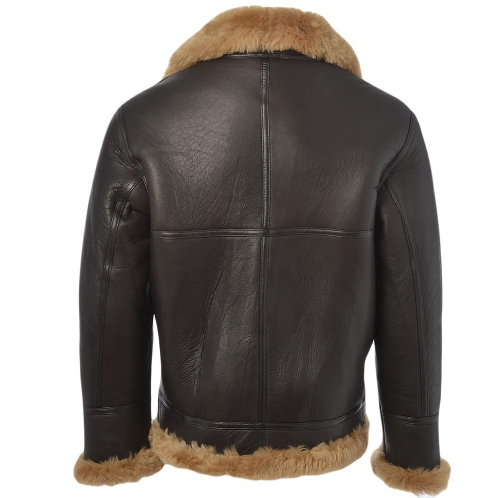 Mens Sheepskin Flying Jacket Ginger Leo Mens Sheepskin