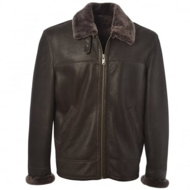 Sheepskin Flying Jacket Mouse Cotton : Hunter