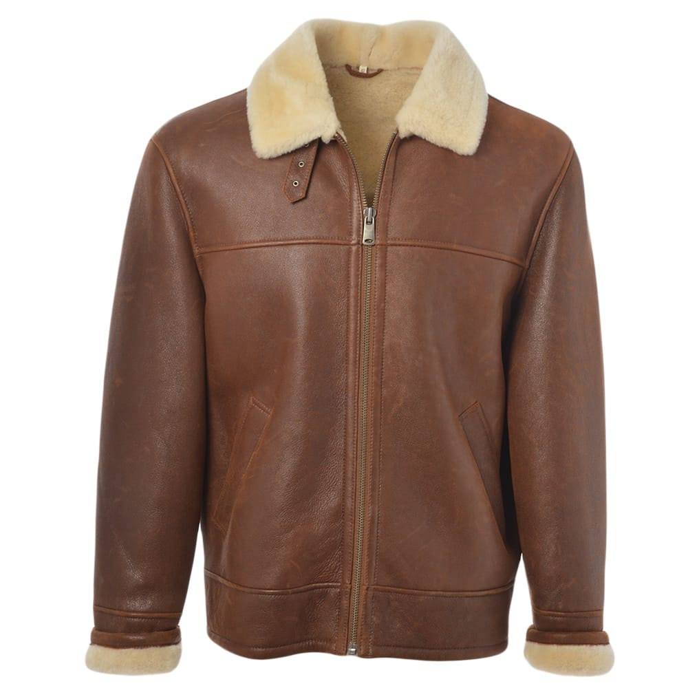 Mens Sheepskin Flying Jacket Tan Hunter Mens Sheepskin