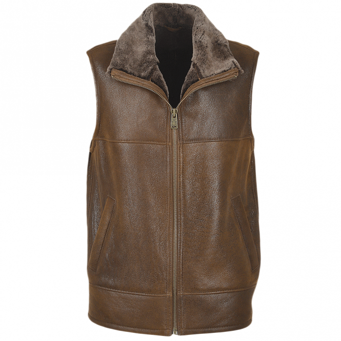Ashwood Sheepskin Gilet Tobacco : Norden