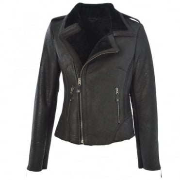 Sheepskin Jacket Black : Carme