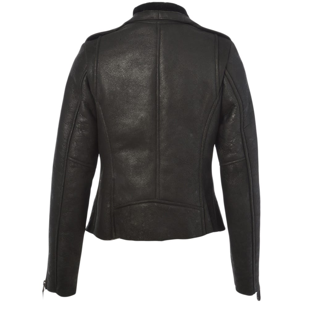 Womens Sheepskin Jacket Black Carme Womens Leather Jackets