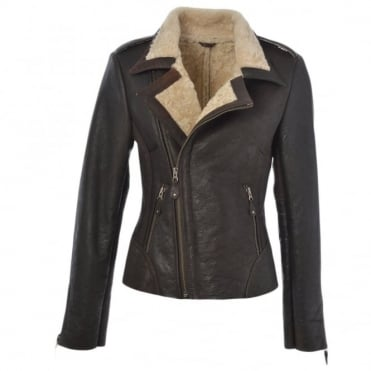 Sheepskin Jacket Brown : Carme