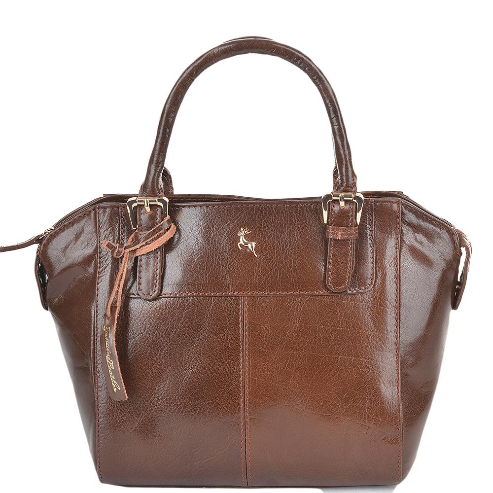 Womens Small Buffalo Glazed Veg Tanned Leather Tote Bag