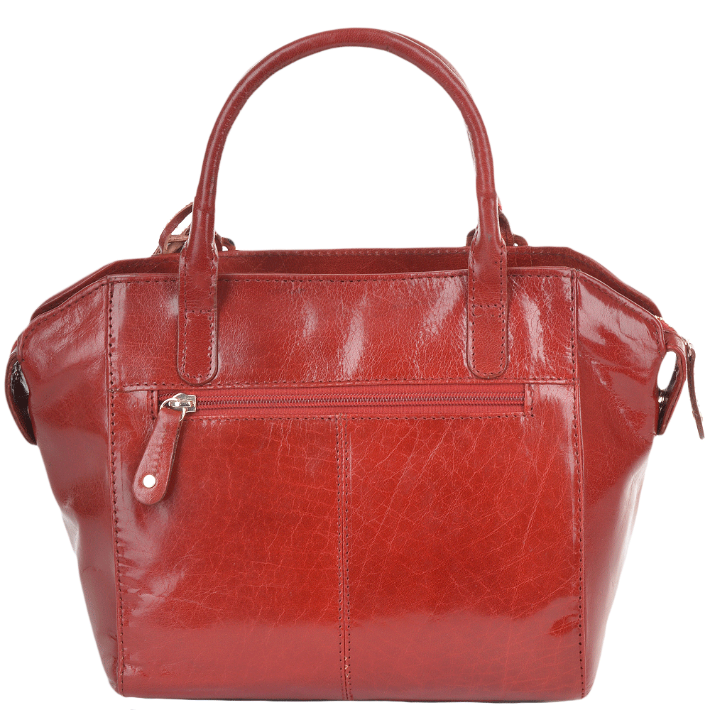Womens Small Buffalo Veg Tanned Leather Tote Bag Red vt   52216