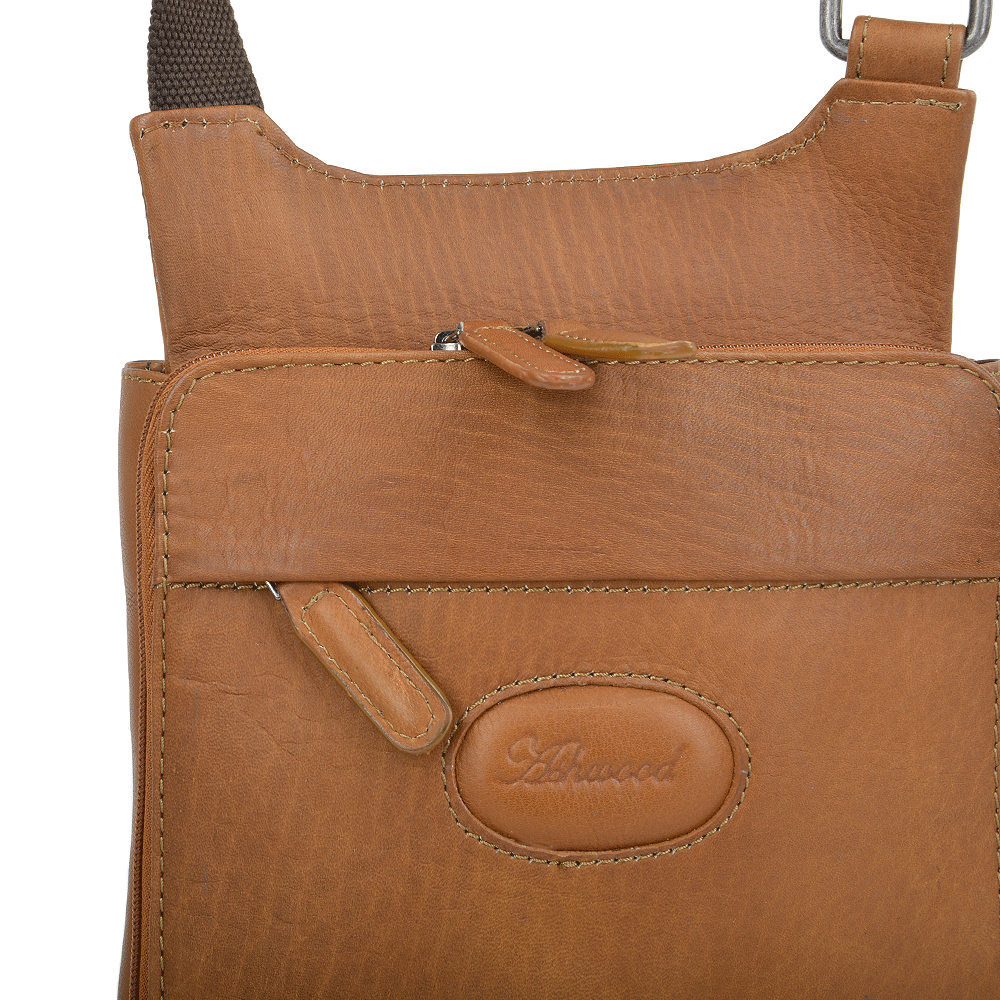 Small Columbian Leather Travel Bag Tan : 8142