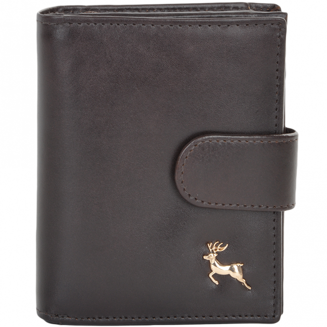 Ashwood Small Vegetable Tanned Leather Note And Coin Purse Wallet Brown : POH-1002