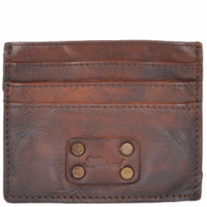 Small Vintage Effect 6 Card Holder Rust : 1778