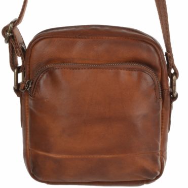 Small Vintage Wash Leather Travel Bag Rust : 1332