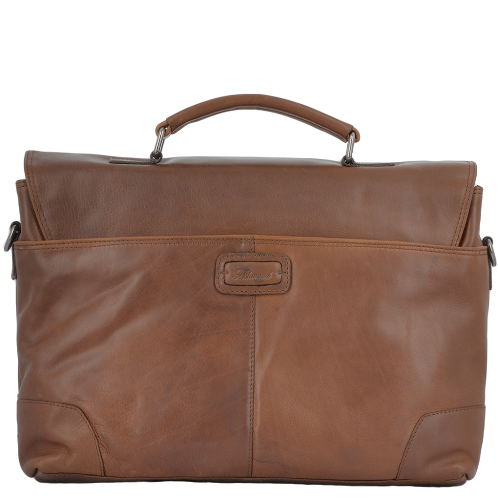 Mens Bags Soft Leather Handcrafted Briefcase Tan Elliot
