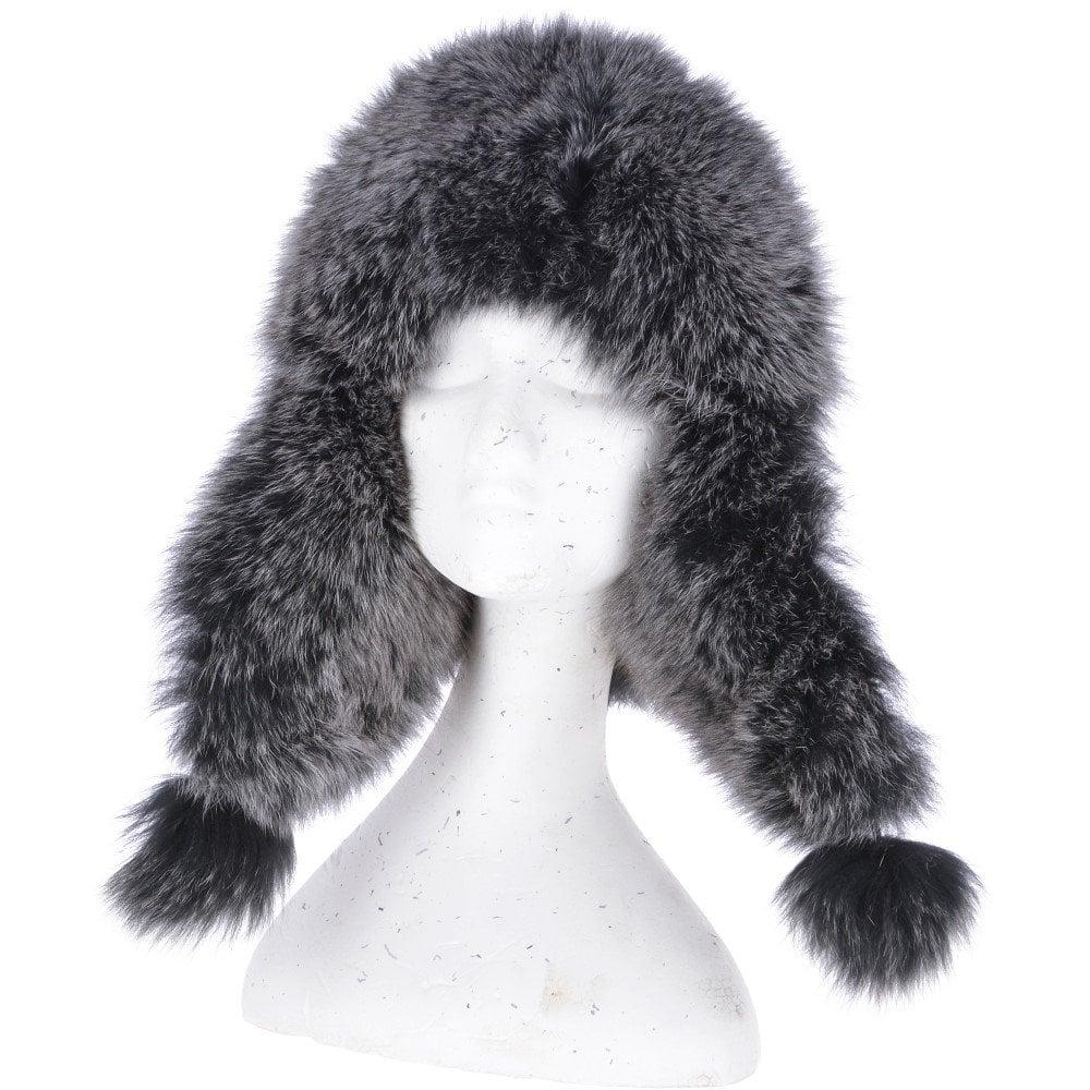 95732b99d8071 ASHWOOD Toscana Pom Pom Sheepskin Trapper Hat Black Brissa ...
