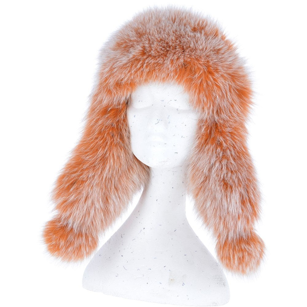 261dece94 Toscana Pom Pom Sheepskin Trapper Hat Tan : Anastasia